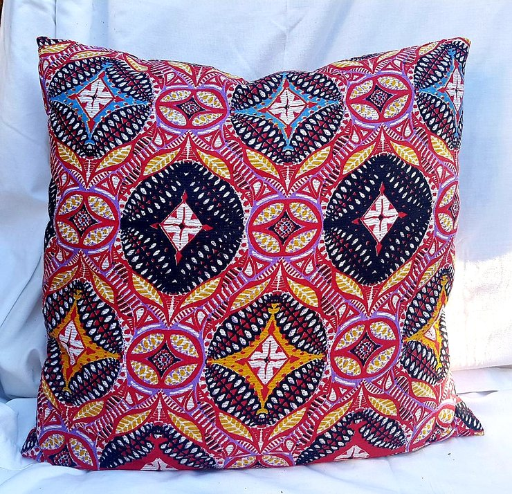 Square Cushion - Geometric by Feathers