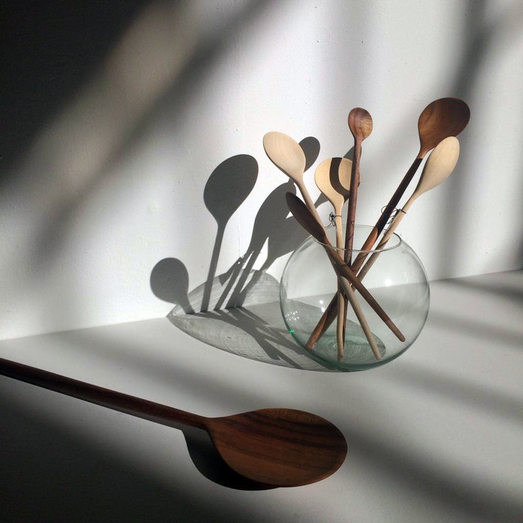 Assorted Handcarved Wooden Spoons by CASTIM