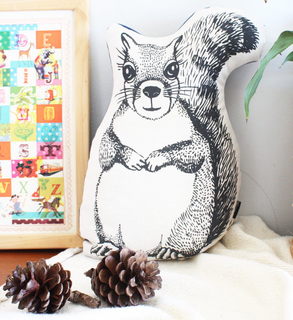 Woodlands Squirrel cushion by Ménagerie