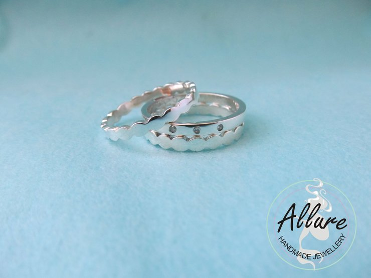 Sterling Silver Stack by Allure Handmade Jewellery