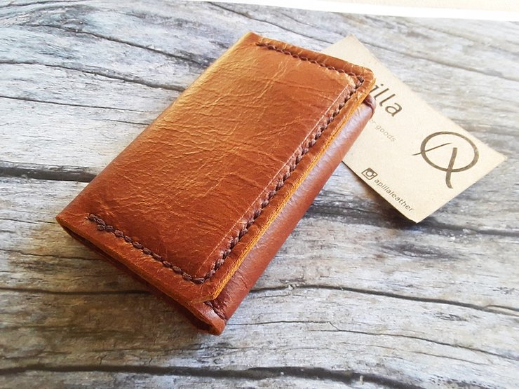 Card Case Leather Wallet by Apilla | Leather