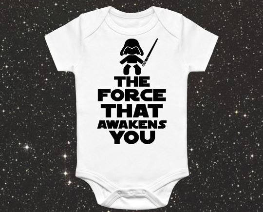 53336c159d22 Star Wars Baby Onesie - The Force that awakens you - Baby Grow ...
