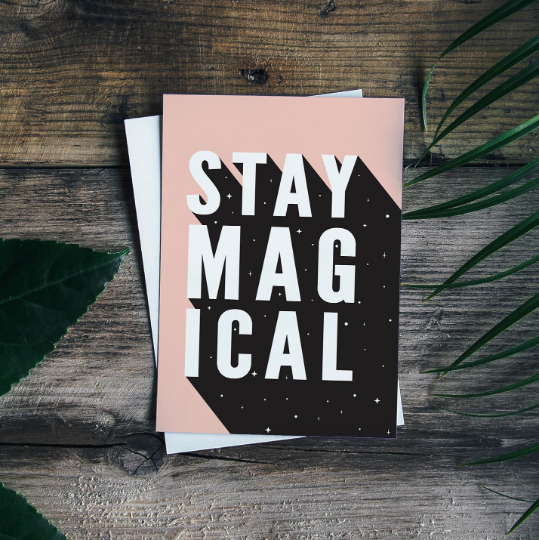 Stay Magical, Pink, Printable Quote by Call It Magic Designs