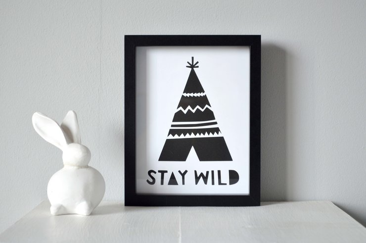 Stay Wild Tee Pee Cut Out by Heartstrings and Creative Things