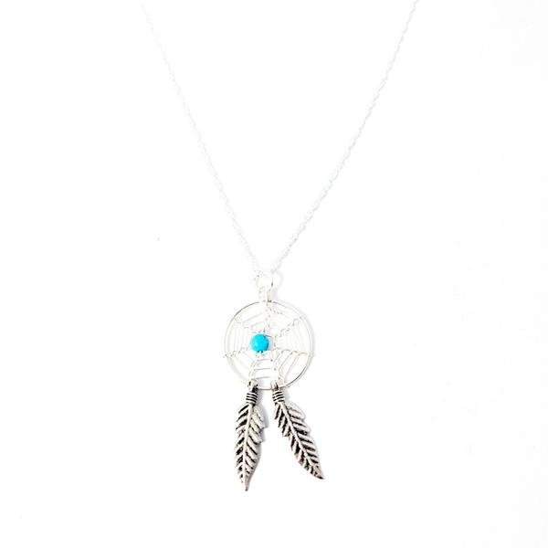 925 Sterling Silver Dream Catcher Chain Necklace by Lakota Inspirations