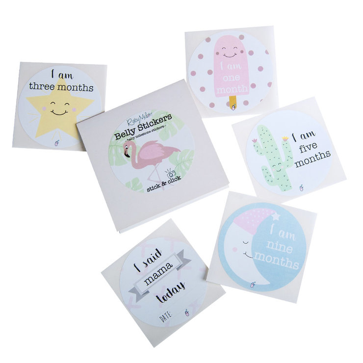 Milestone Belly Stickers - Girl by Ruby Melon