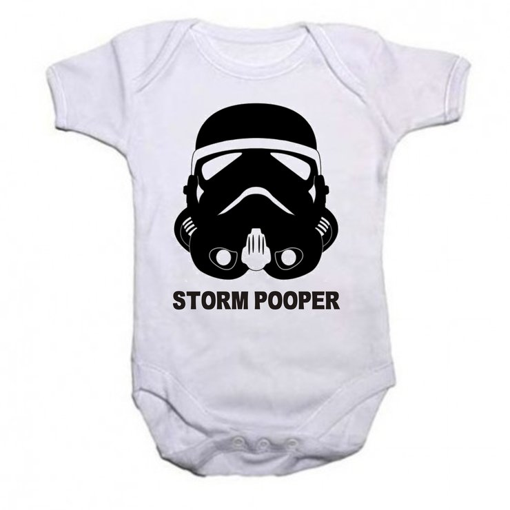 Storm Pooper baby grow by Qtees Africa (Pty)Ltd