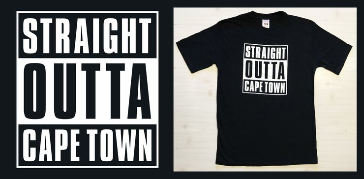 Straight Outta Cape Town (Men's) by Laugh it Off