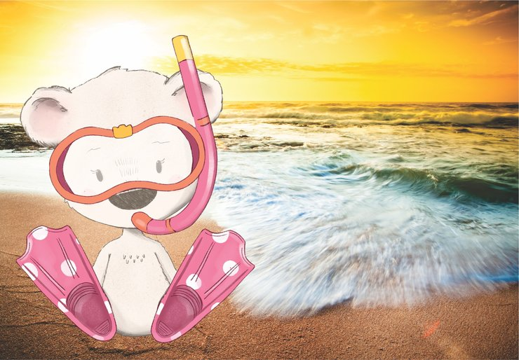 Sunset bear pink by Beyond Photography