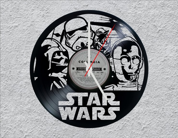 Star Wars Lp Vinyl Clock Hello Pretty Buy Design