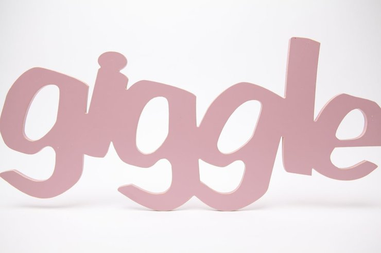 Wooden Word Giggle By Bokke Amp Blomme