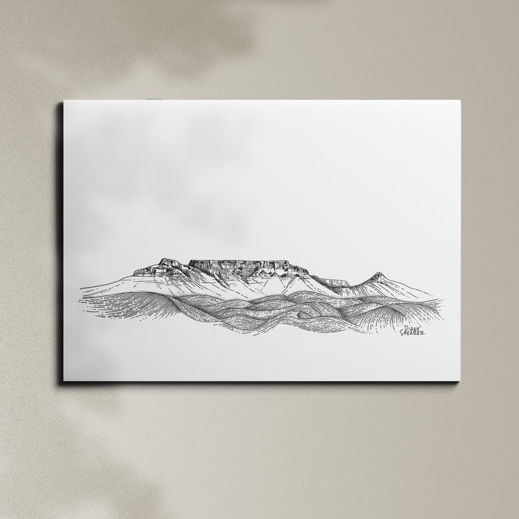 Table Mountain - A3 by Art From Adventures