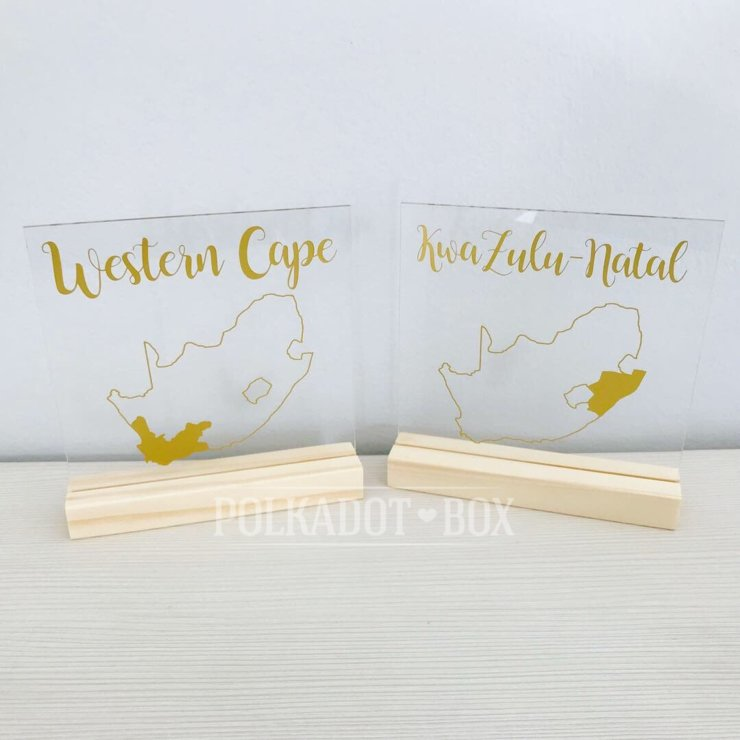 Custom Perspex Wedding Table Numbers (price per item) by Polkadot Box