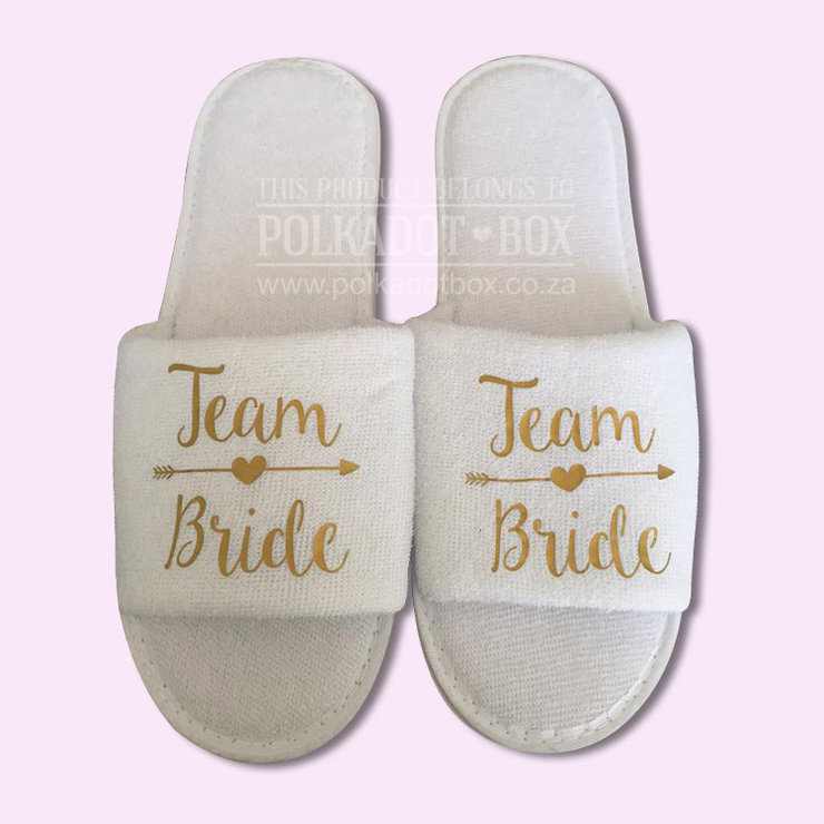 954baf66d70 Team Bride Wedding Slippers