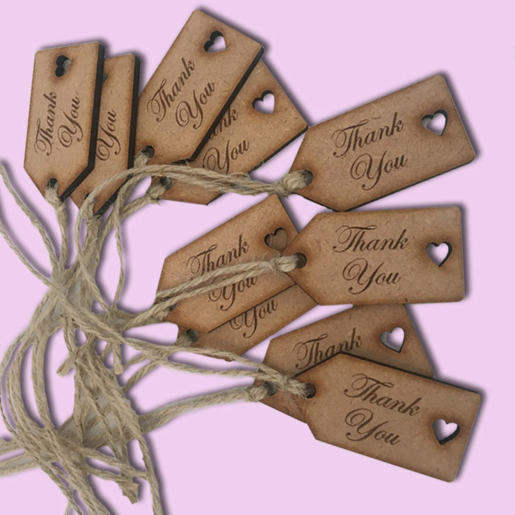 Thank you tags (pack of 20) by Polkadot Box