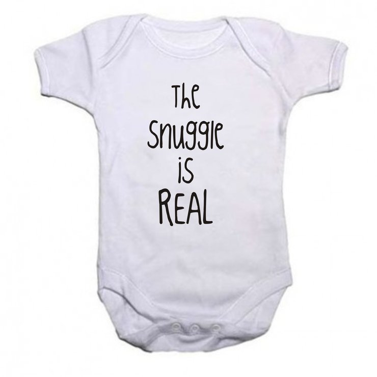 The snuggle is real baby grow by Qtees Africa (Pty)Ltd