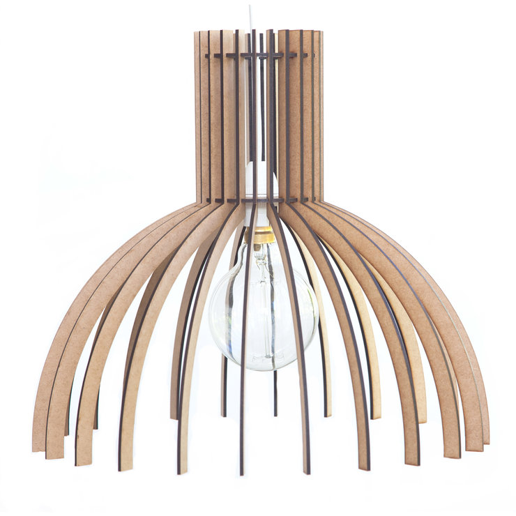 Wooden Pendant Ceiling Light / Lampshade - 'The Wynberg' by AssembLIT