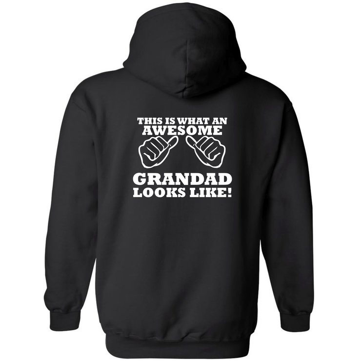 This is what an Awesome Grandad looks like hoodie by Qtees Africa (Pty)Ltd