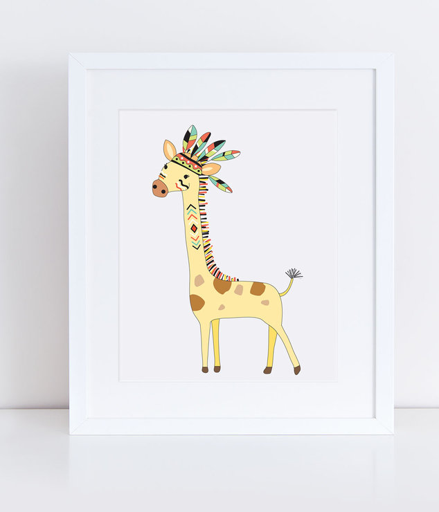 Thuhlo the Giraffe - Print by PandaLove