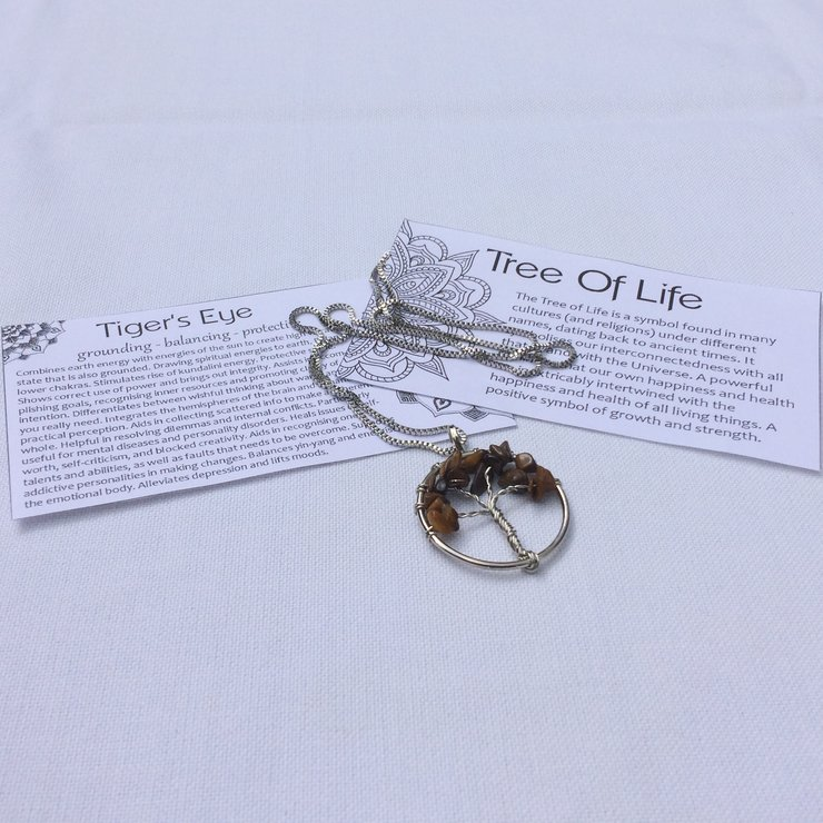 Tree of Life Necklace - Tiger's Eye by Quintessence Natural Healing