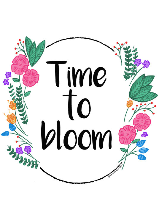Printable: Time To Bloom by Sew & Such