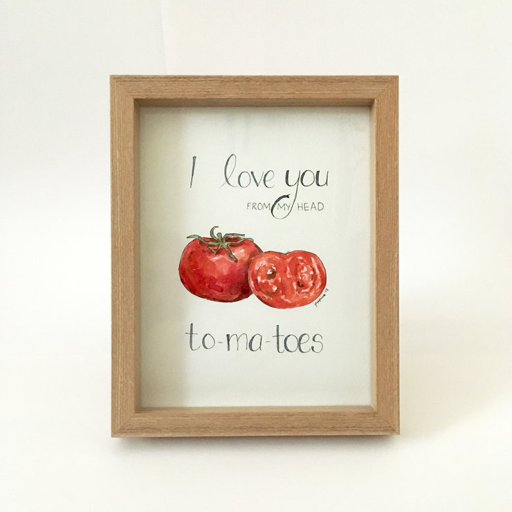 Love you to-ma-toes (framed print) by Josephine Draws