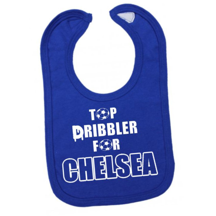 premium selection 64090 7bf99 Top DRIBBLER for CHELSEA FC Baby BIB/ Chelsea FC baby gift /Baby Shower Gift