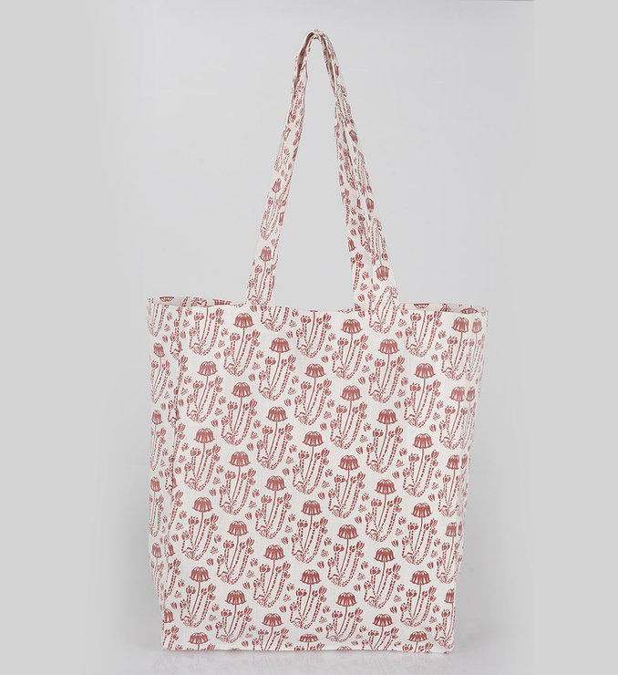 Cotyledon tote bag by Quagga Fabrics and Wallpapers