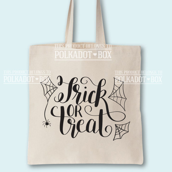 Trick or Treat Halloween Tote Bag by Polkadot Box