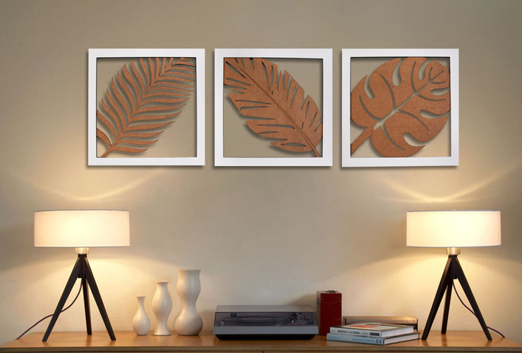 FRAMED LEAF WALL ART SET (M0222)	 by Miss Magpie