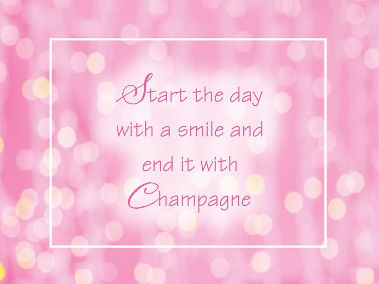 Start the Day with a Smile Quote by The Sparkling Star