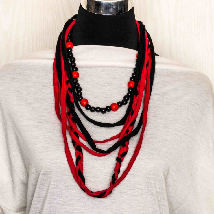 T-shirt Yarn Lace & Yarn Necklace TSYN35 by Eve's Infinite Gifts