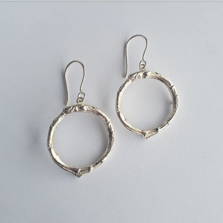 Circular twig earrings by Jewellery by Jessica