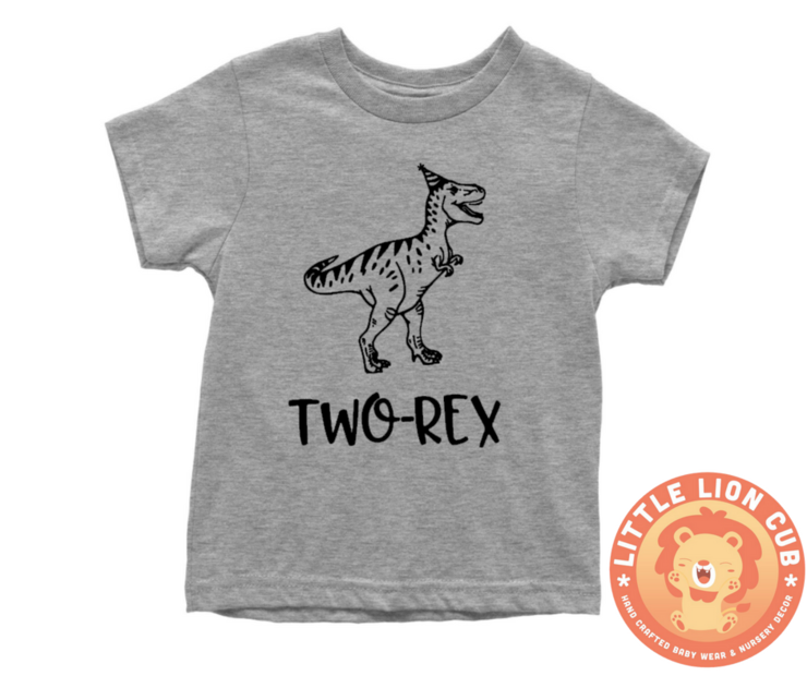TWO REX Second Birthday T Shirt 2nd Outfit