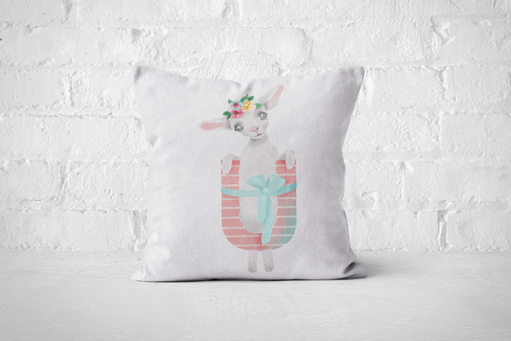 Pretty Letters Pillow Cover - U by But Why Not