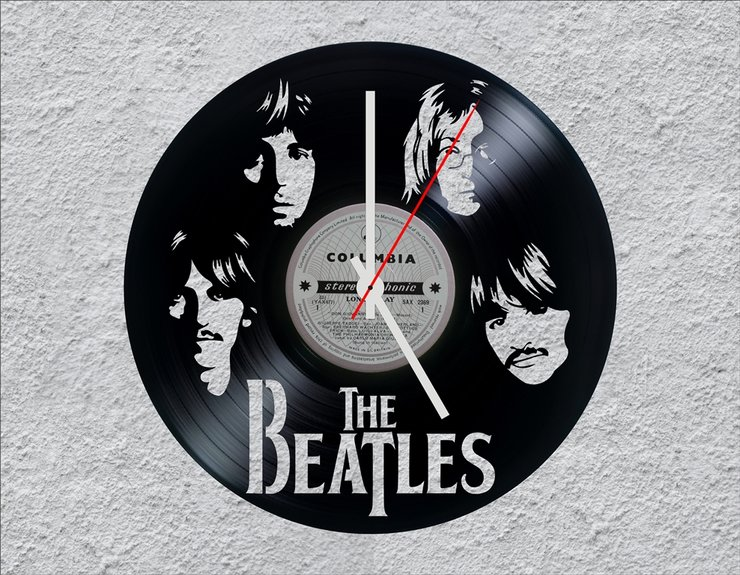 The Beatles Lp Vinyl Clock Hello Pretty Buy Design