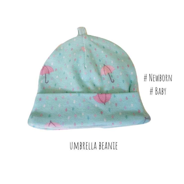 Newborn umbrella beanie/ baby beanie /Umbrella/ Baby Shower Gift/ Baby Girl / Newborn by Little Lion Cub Boutique