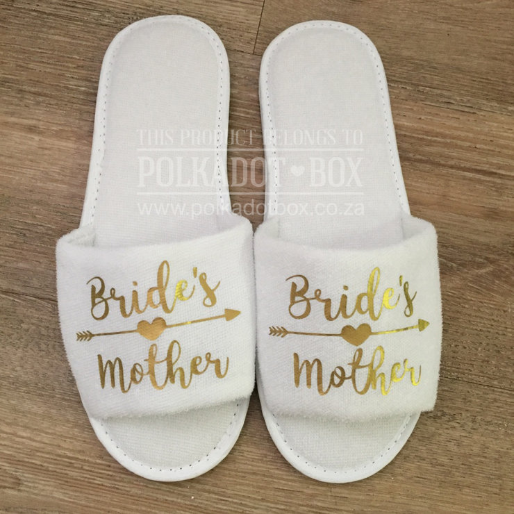 Bride's Mother Slippers by Polkadot Box