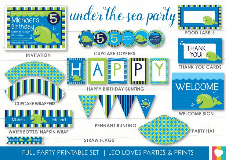 photo relating to Under the Sea Printable named Less than The Sea Printable Fixed