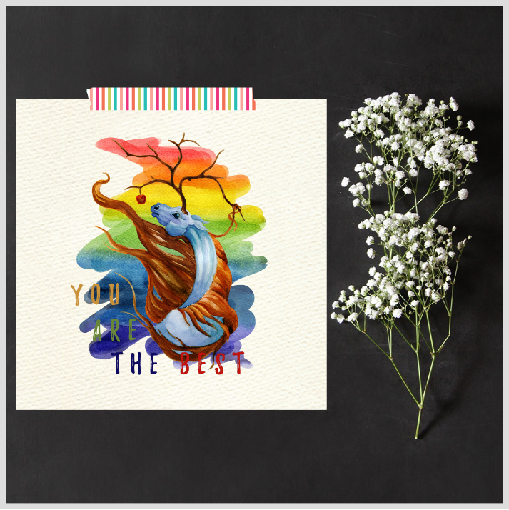 Set of 2 Pegasus Prints/Posters/Wall Art by The Art of Creativity Studio