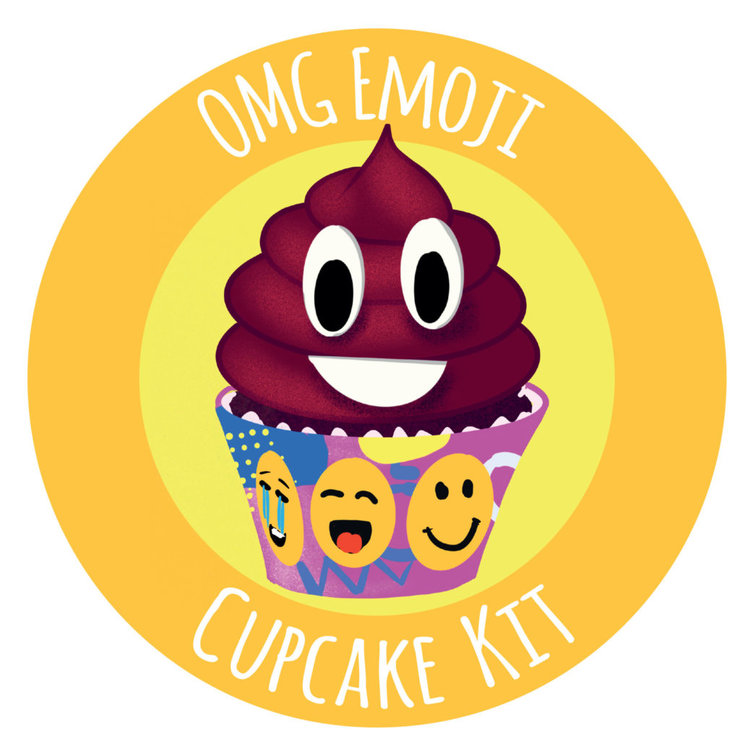 OMG! Emoji Poop Cupcake Kit by Annie's Baking Club