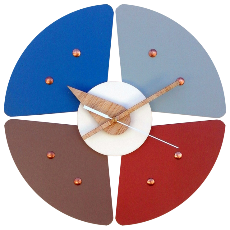 Earthy Colour Petal Clock by CapeClocks