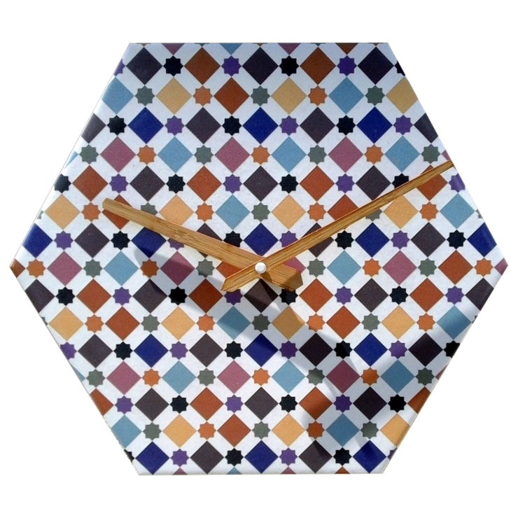 Andalusian Tile Clock 3 by CapeClocks