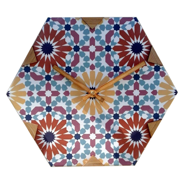 Andalusian Tile Clock 1 by CapeClocks