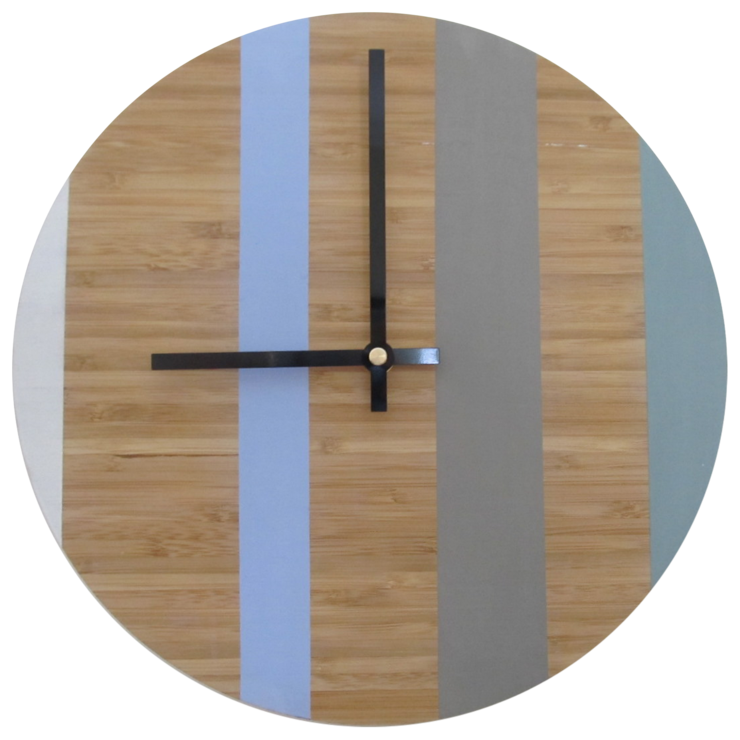 Four Tone Chalk Paint Bamboo Clock by CapeClocks