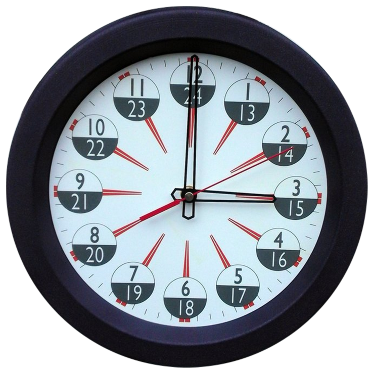 Spun Metal 24 Hour Clock by CapeClocks