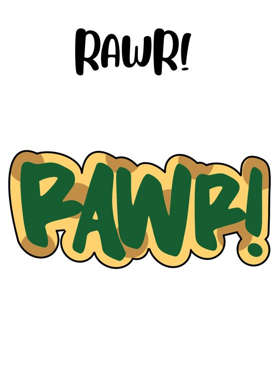 RAWR! cookie cutter  by The Cookie Cutter Co
