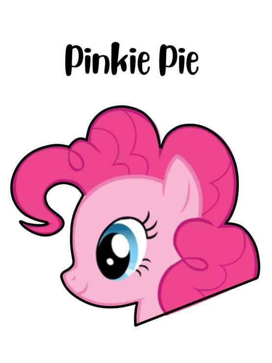 Pinkie Pie cookie cutter by The Cookie Cutter Co