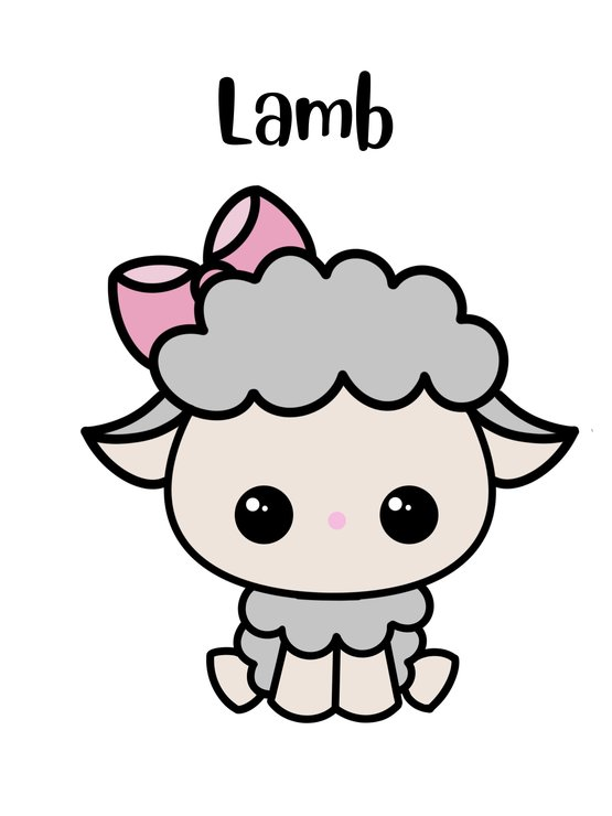 Lamb cookie cutter by The Cookie Cutter Co