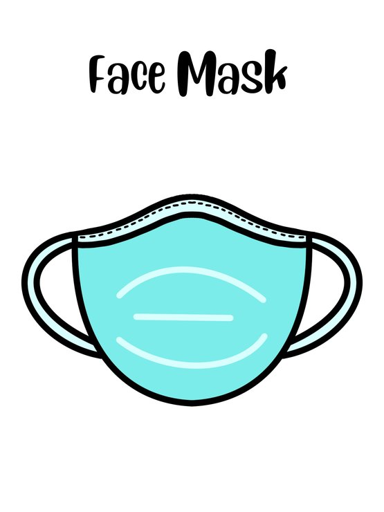 Face Mask cookie cutter by The Cookie Cutter Co